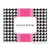 Alex Houndstooth Black Folded Note
