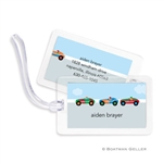 Race Cars Bag Tag