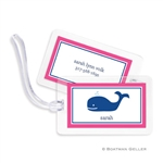 Whale Navy Bag Tag