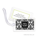 Madison Damask White with Black Bag Tag