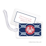 Nautical Knot Navy Bag Tag