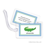 Alligator Blue Bag Tag
