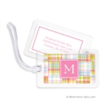 Madras Patch Pink Bag Tag