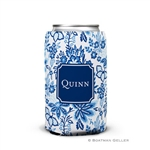 Classic Blue Floral Can Koozie