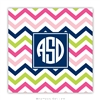 Chevron Pink, Navy + Lime Coasters