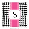Alex Houndstooth Black Coasters