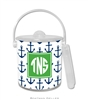 Anchors Navy Lucite Ice Bucket