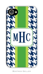 Alex Houndstooth Navy Cell Phone Cover