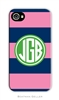 Rugby Navy + Pink Cell Phone Cover