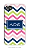 Chevron Pink Navy + Lime Cell Phone Cover