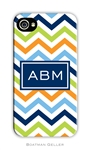 Chevron Blue Orange + Lime Cell Phone Cover