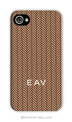 Herringbone Brown Cell Phone Cover