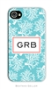 Coral Repeat Teal Cell Phone Cover
