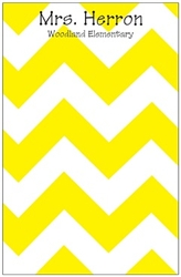 Yellow Chevron Notepad