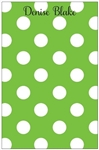 Green + White Dot Notepad