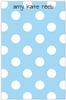 Blue + White Dot Notepad