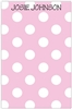 Pale Pink + White Dot Notepad