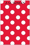 Red + White Dot Notepad