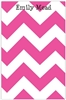 Bright Pink Chevron Notepad