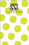 Lime Large Dot Notepad