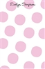 Pale Pink Large Dot Notepad