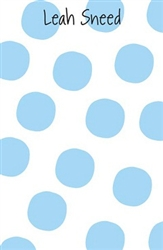 True Blue Large Dot Notepad