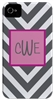 Gray Chevron Phone Cover