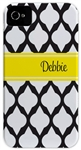 Black Lattice Phone Cover