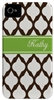 Brown Lattice Phone Cover