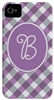 Purple Gingham Phone Cover