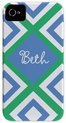 Blue Geometric Phone Cover