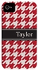 Red Houndstooth Phone Cover
