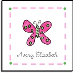 Flutter Butterfly Label