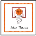 Basketball Star Label