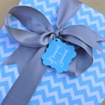Aqua Chevron Wrapping Paper