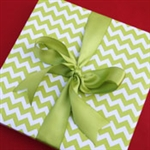 Green Chevron Wrapping Paper