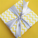 Yellow Chevron Wrapping Paper