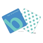 Alphabet Turquoise on Ocean Personalized Coasters