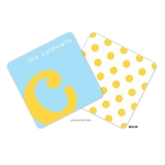 Alphabet Sunshine on Sky Personalized Coasters