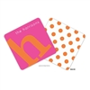 Alphabet Tangerine on Hot Pink Personalized Coasters