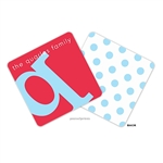 Alphabet Sky on Cherry Personalized Coasters