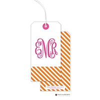 Diagonal Stripe Hanging Gift Tag