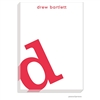 Alphabet Cherry on White Notepad