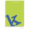 Alphabet Cobalt on Chartreuse Notepad