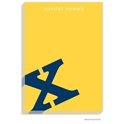 Alphabet Navy on Sunshine Notepad