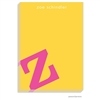 Alphabet Hot Pink on Sunshine Notepad
