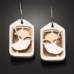 Sterling Silver and 14k Bi-Metal Earrings (112.sbb)