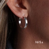 Sterling Silver Hoop Earrings (161S.s)