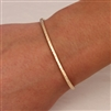 14k Yellow Gold Filled Thin Hammered Cuff Bracelet (350str.ygf)