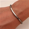 Sterling Silver and Niobium Cuff Bracelet (351H.sn)